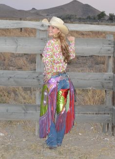 Measuring for chinks and chaps for perfect fit is our specialty! Custom Ladies Chinks and Chaps. Virgil Arellano Maker