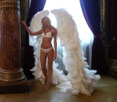 Angel Candice Swanepoel Behind the Scenes Victoria's Secret Holiday 2013 Commercial