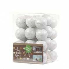 Cotton Ball lichtslinger 35 - Kerst - Wit