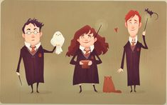 The Golden Trio (Harry Potter) by AudreyBenjaminsen