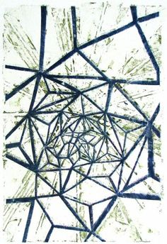"FGPP #27, 2011, watercolor monoprint, 24"" x 18"""