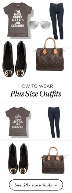 """Plus size"" by ashleevanover on Polyvore featuring M&Co, Tory Burch, Louis Vuitton and MICHAEL Michael Kors"