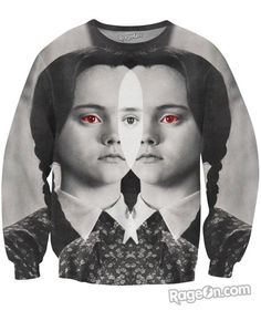 Wednesday Addams Crewneck Sweatshirt - RageOn! - The World's Largest All-Over-Print Online Store
