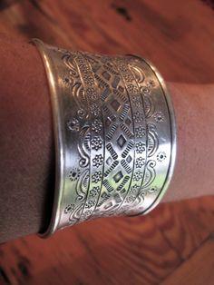 silver hill tribe cuff by shopgypsyriver on Etsy, $160.00