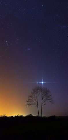 Jupiter and Venus........hermoso !