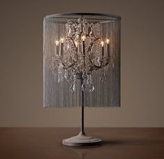 Vaille Crystal Table Lamp & Restauration Hardware