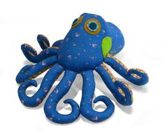 Ozzie Octopus Softies Sewing Pattern INSTANT DOWNLOAD