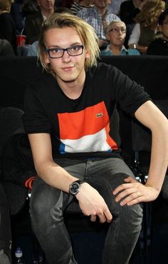 Jamie Campbell Bower in glasses