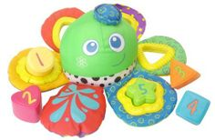 Edushape Octo-Sorter Bath Toy by Edushape. $16.27. From the Manufacturer                Hug a soft, colorful Octopus in the tub, with our water-proof, soft fabric floating toy. The octopus has squatters and numbered shape cups. Set of 5 color, number and shape cups that allow baby open-ended play for bath time or quite time.                                    Product Description                Water-proof, soft fabric floating octopus with squirter and numbered shape cups.