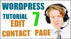 Wordpress tutorial step by step 2016 (Part 7)   Edit contact page