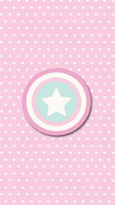 Hearts & Star on Pink Wallpaper.