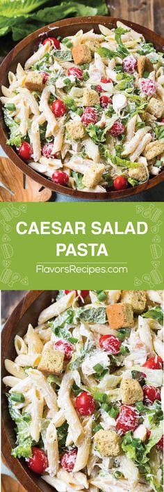 Caesar Salad Pasta - Enjoy Your meals Healthy Salads, Healthy Eating, Healthy Recipes, Dinner Healthy, Caesars Salad, Comida Latina, Pasta Salad Recipes, Summer Salads, Soup And Salad