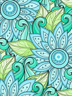 Tranquil Wilderness: 64 by AbbyShue Mandala Art, Mandala Design, Doodle Coloring, Mandala Coloring, Colouring, Motif Vintage, Flower Doodles, Coloring Book Pages, Fractal Art