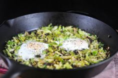 Brussels Sprouts Hash and Eggs, a recipe on Food52