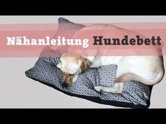 Nähanleitung Hundebett Hundekissen DIY selber nähen Hund Bett Kissen Katze video kostenlos Tutorial - YouTube