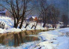 Matin d hiver, huile sur toile de Walter Launt Palmer (1854-1932, United States)