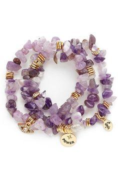 Sequin Stone Stretch Bracelets (Set of 3)