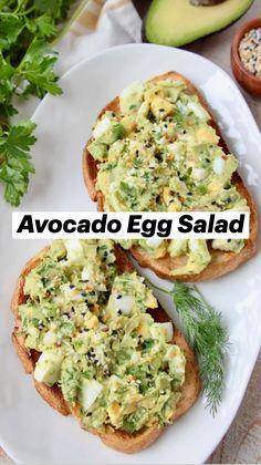 Avocado Recipes, Burger Recipes, Brunch Recipes, Seafood Recipes, Breakfast Recipes, Healthy Eating Recipes, Healthy Cooking, Healthy Snacks, Vegetarian Recipes
