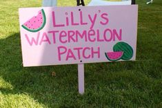 Handpainted Wooden Watermelon Patch sign by ConfettiAndCompany