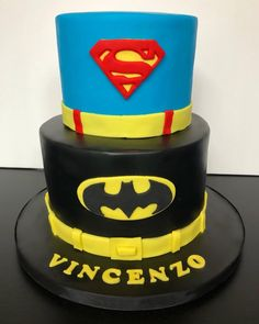 Superman & Batman Cake