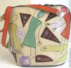 Купить сумка летняя ДЕВКИ ГУЛЯЮТ - 2 - сумка, сумка женская, сумка ручной работы