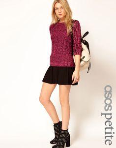 $17, Black Skater Skirt: Asos Petite Skater Skirt. Sold by Asos. Click for more info: http://lookastic.com/women/shop_items/172046/redirect