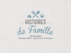 """Création du logo restaurant """"Histoires de famille"""" situé à QUIMPER dans le Finistère. C'est un restaurant, café after work à l'esprit tendance et créatif."""