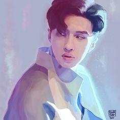 """Air"" by Bodtster. Lee Jaehwan aka Ken from VIXX. Fan art. #Ken #Vixx #Fanart #Bodtster"