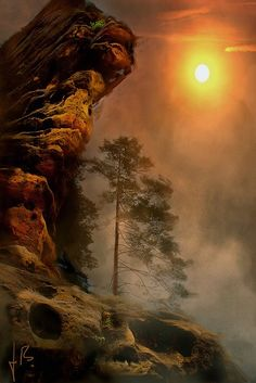 ✯ Sunset - Elbe Sandstone Mountains, Germany