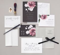 Vintage botanical etchings paired with marble accents adorn this wedding invitation suite. The perfect combination of classical and contemporary. - - - - - > This listing is for purchasing a non-customized SAMPLE of this invitation set - To order your own invitations and for