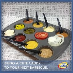 Great idea for outdoor barbecue.