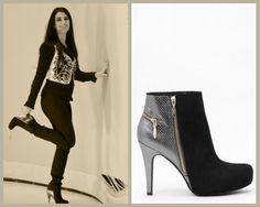 """Elvira Carcedo Serrano en el programa """"68 pasos"""" de canalplus luciendo estos botines Exé Shoes."""