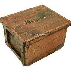 Custom engraved crate. Tell us what you want!  We love doing custom work.