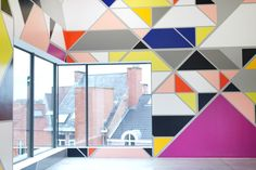 Sarah Morris Wall Painting M Museum Leuven