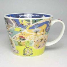 Moomin Valley Map Design Soup Mug Cup Yamaka Japan | eBay