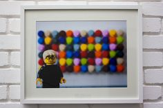 The Spot Print - (Damien Hirst) - LEGO® Art / Photography, by Little Big Art