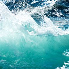 The colour of the sea is one of the most beautiful in nature
