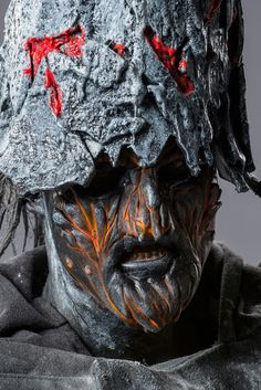 Face Off Volcano King - Michael and Troy goblin king compition .ps they lost. Movie Makeup, Fx Makeup, Face Off Syfy, Dragon Mask, Fantasy Make Up, Goblin King, School Makeup, Halloween Fashion, Human Art