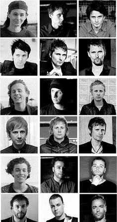 #Muse through years. Matthew, Dominic & Chris