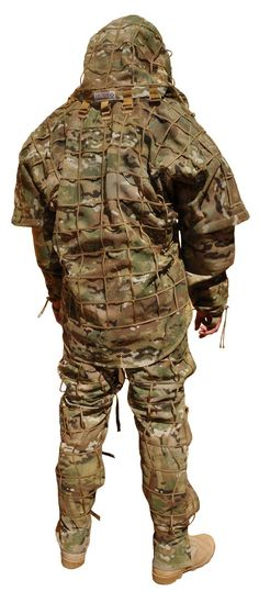 Sniper Garment Kit; Would prefer this in woodland or tiger stripe, but multicam works in a pinch. Also, the fact that it frees up your limbs unlike a ghillie is nice.