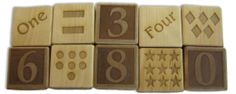 Gorgeous solid maple number block set, $29