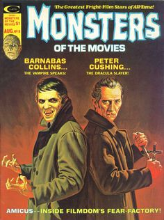 Marvel's Monsters of the Movies with Barnabas Collins and Professor Van Helsing (Jonathon Frid and Peter Cushing) Horror Comics, Horror Films, Marvel Comics, Horror Art, Cosmic Comics, Horror Books, Horror Stories, Sci Fi Movies, Scary Movies