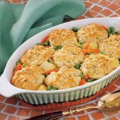 Chicken Biscuit Stew Recipe.  This was really good and easy to make!