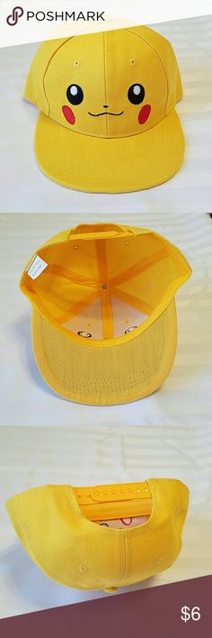 NEW!! PIKACHU HAT. NWOT. ADJUSTABLE Pokemon Hat PIKACHU BRAND NEW Without tags One SIZE - Adjustable No Brand Accessories