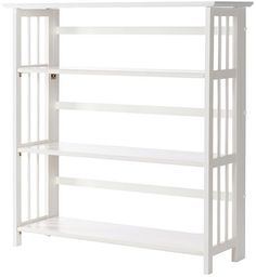 Casual Home White Folding/Stacking Open Bookcase - The Home Depot Open Bookcase, Bookcase Shelves, Bookshelves, White Bin, Standing Shelves, Storing Books, Kids Artwork, Artist At Work, Mudroom