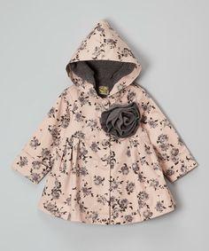 Look at this #zulilyfind! Light Pink Floral Twill Jacket - Toddler & Girls #zulilyfinds