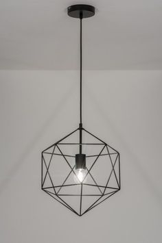 Pendant Light 72270: Rustic, Modern, Metal, Black Office Lamp, Large Lamps, Geometric Decor, Lamp Socket, Dining Room Lighting, Home Interior, Modern Rustic, Room Inspiration, Pendant Lighting