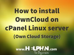 How to install owncloud on cpanel linux server?