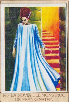 ☆ Monstrous Trading Cards: La Novia Del Monstruo De Frankenstein «The Bride 0f Frankenstein» ☆