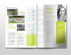 connect magazine/ company internal newsletter by Joanet Q Liu, via Behance